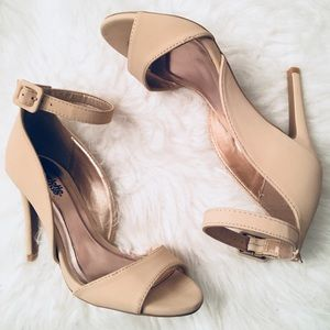 Charlotte Russe Nude Heels with Strap